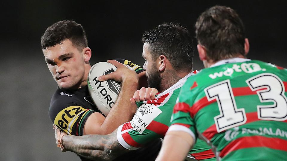 Seen here, Nathan Cleary in action for Penrith against South Sydney.