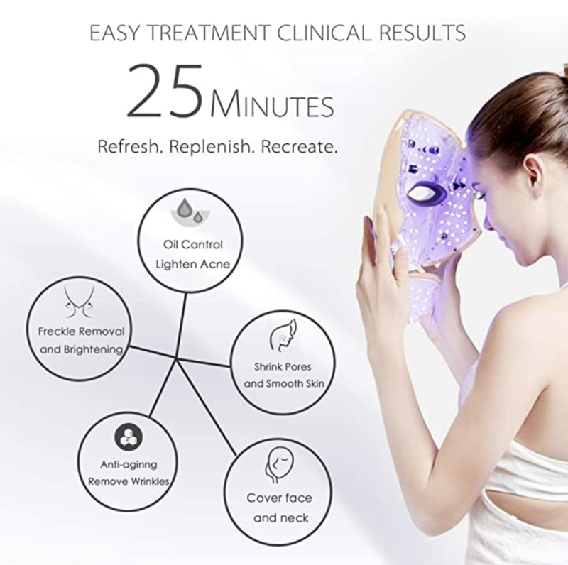 Pro 7Color LED Mask Skin Care Photon Light Therapy For Face & Neck. PHOTO: Amazon