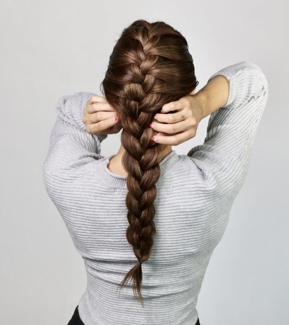 <p>You can also pinch and pull at the sections underneath the hair for an added volume boost.</p>