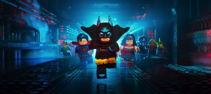 Batman (Will Arnett) and the Lego Justice League in The Lego Batman Movie. (Warner Bros Pictures)
