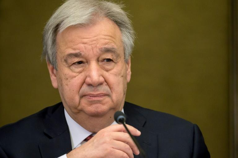 UN Secretary-General Antonio Guterres, seen in April 2021, has voiced alarm over rising violence in the Middle East