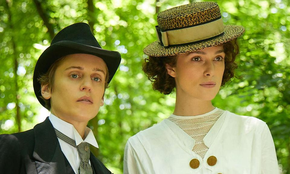 <p>Based on the true story of French writer Colette, Keira Knightley stars as a rural girl who begins ghost-writing for her cosmopolitan husband (Dominic West) only to become more empowered to take ownership of her work and defy the social expectations of the early 20th century. </p>