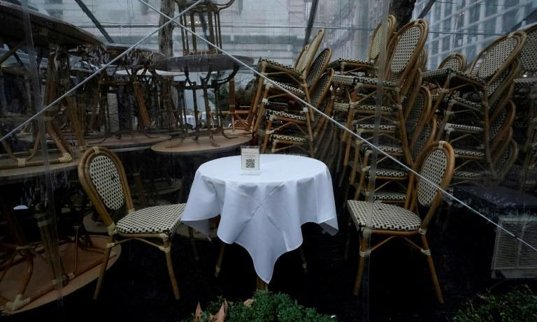 While the snow brought joy for some, restaurants stacked chairs and shuttered after a snow alert effectively put an end to outdoor dining