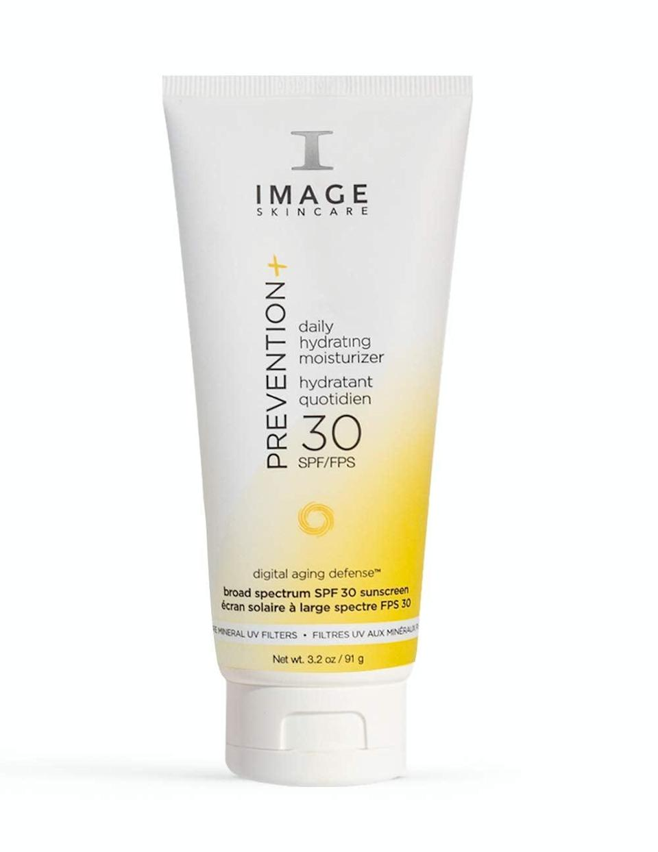 """<p>""""I randomly pocketed the <a href=""""https://www.popsugar.com/buy/Image-Skincare-Prevention-Daily-Hydrating-Moisturizer-SPF-30-585487?p_name=Image%20Skincare%20Prevention%2B%20Daily%2C%20Hydrating%20Moisturizer%20SPF%2030%2B&retailer=amazon.com&pid=585487&price=44&evar1=bella%3Aus&evar9=47580543&evar98=https%3A%2F%2Fwww.popsugar.com%2Fbeauty%2Fphoto-gallery%2F47580543%2Fimage%2F47581048%2FImage-Skincare-Prevention-Daily-Hydrating-Moisturizer-SPF-30&list1=beauty%20products%2Csunscreen%2Ceditors%20pick%2Csummer%2Cskin%20care&prop13=mobile&pdata=1"""" class=""""link rapid-noclick-resp"""" rel=""""nofollow noopener"""" target=""""_blank"""" data-ylk=""""slk:Image Skincare Prevention+ Daily, Hydrating Moisturizer SPF 30+"""">Image Skincare Prevention+ Daily, Hydrating Moisturizer SPF 30+</a> ($44) during a beauty sale at a past job and it surprisingly turned out to be one of the best skin-care decisions I've ever made. This sunscreen is thick, creamy, and hydrating, but it doesn't feel super thick on my skin. As a bonus, it also doesn't leave behind a white residue, a common issue people of color tend to deal with when using sunscreens."""" - Danielle Jackson, assistant beauty editor</p>"""