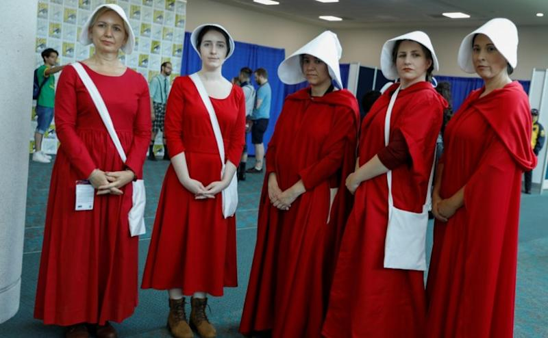 The San Diego Comic-Con is the high point of thousands of pop culture aficionados, from comic books to fantasy to dystopian fiction and horror. Clusters of fans also dressed up as handmaids from Margaret Atwood's novel and the Hulu drama, The Handmaid's Tale. Reuters/ Mike Blake