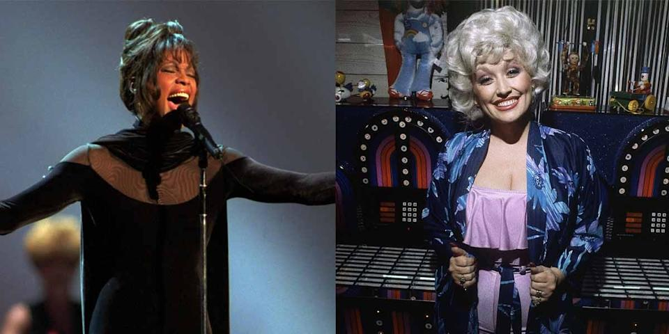 whitney houston dolly parton