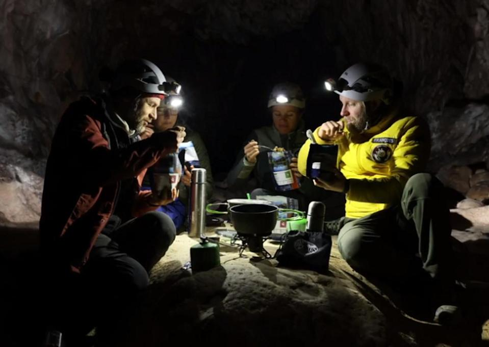 Volunteers emerge after spending 40 days in a cave with no clocks, natural light