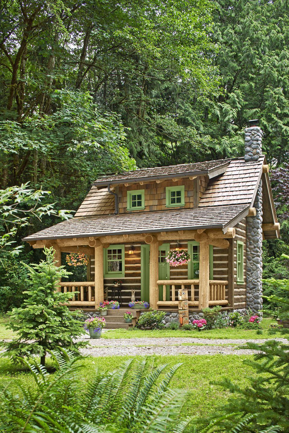 """<p>A hand-built hideaway—short on space, tall on charm—looks right at home among the Douglas firs of Port Orchard, Washington.</p><p><a class=""""link rapid-noclick-resp"""" href=""""https://www.amazon.com/Tiny-House-Live-Small-Dream/dp/0525576614?tag=syn-yahoo-20&ascsubtag=%5Bartid%7C10072.g.35047961%5Bsrc%7Cyahoo-us"""" rel=""""nofollow noopener"""" target=""""_blank"""" data-ylk=""""slk:SHOP TINY HOUSE COFFEE TABLE BOOKS"""">SHOP TINY HOUSE COFFEE TABLE BOOKS</a></p>"""