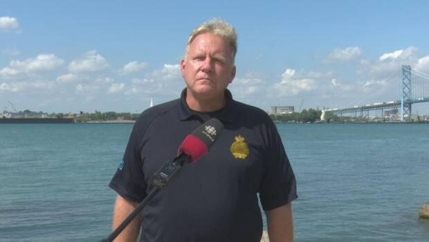 Windsor Port Authority harbour master Peter Barry says small vessels need to get out of the way for larger ones, which have the priority.  (Darrin DiCarlo/CBC - image credit)