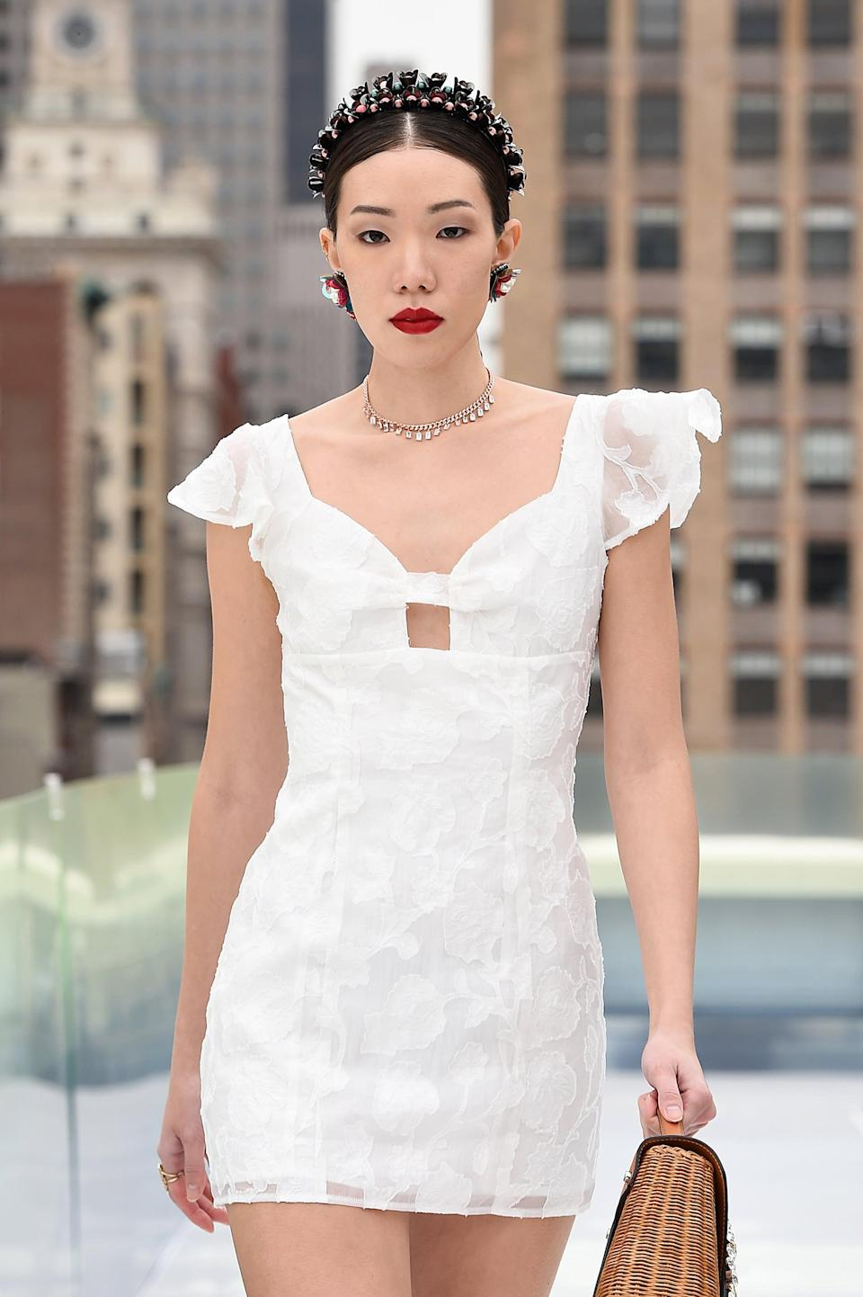 <p>The Flying Solo runway proved that a bold red lip will always be in style. </p>