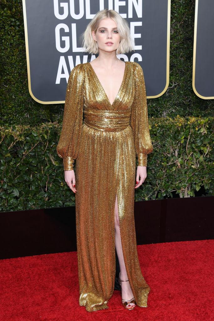 <p>Lucy Boynton attends the 76th Annual Golden Globe Awards at the Beverly Hilton Hotel in Beverly Hills, Calif., on Jan. 6, 2019. (Photo: Getty Images) </p>