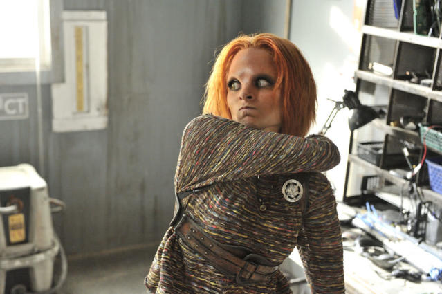 "Stephanie Leonidas as Irisa in the ""Defiance"" episode, ""I Just Wasn't Made for These Times."""