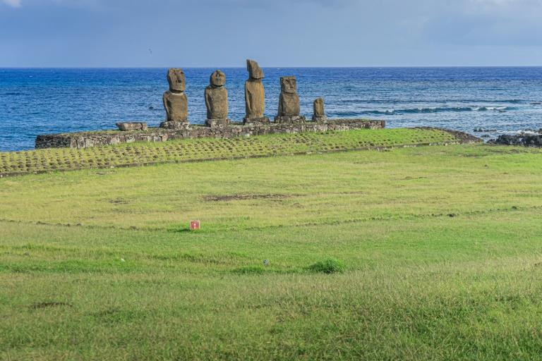 Easter Island is known for its human figure stone monoliths called moais