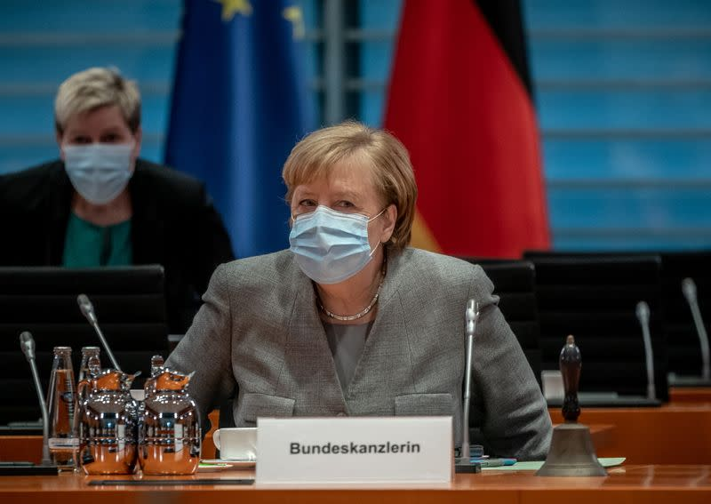 FILE PHOTO: Weekly cabinet meeting of the German government at the chancellery in Berlin