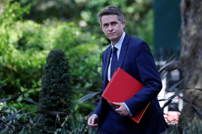 """Britain's Education Secretary Gavin Williamson arrives in Downing Street in central London on May 1, 2020. - Britain is """"past the peak"""" of its coronavirus outbreak, Prime Minister Boris Johnson said Thursday, despite recording another 674 deaths in the last 24 hours, taking the toll to 26,711. (Photo by Tolga AKMEN / AFP) (Photo by TOLGA AKMEN/AFP via Getty Images)"""
