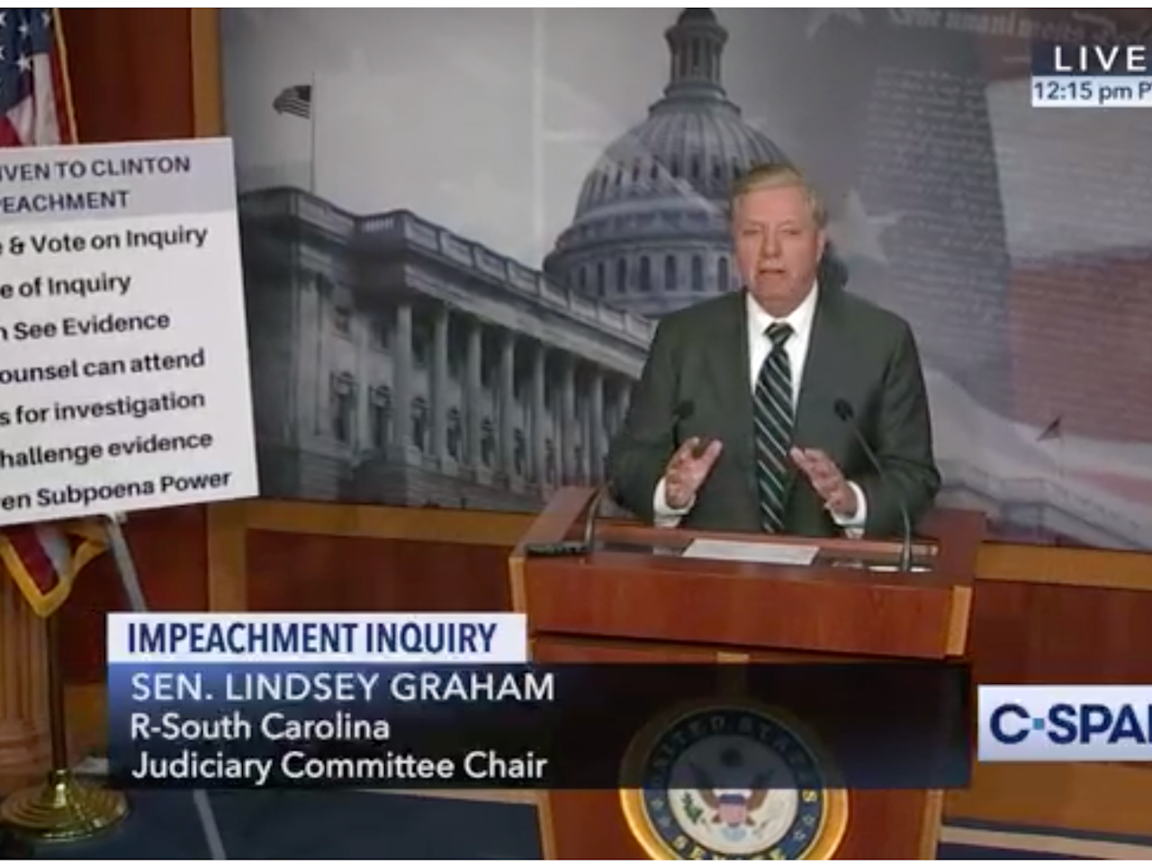 Lindsey Graham introduced a resolution denouncing the House's impeachment investigation
