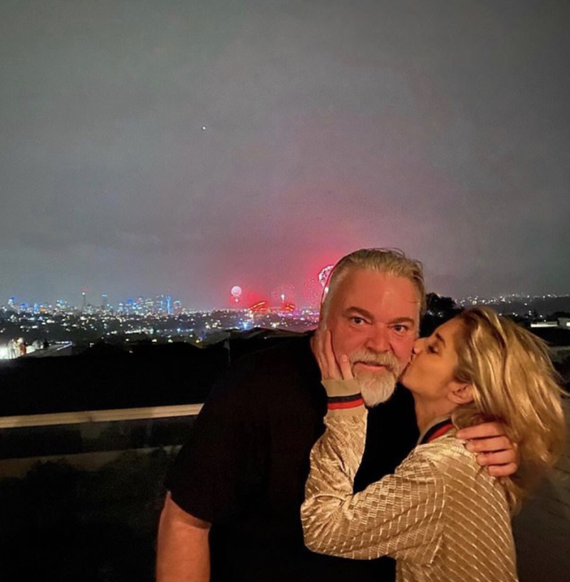 Kyle sandilands and new girlfriend tegan kynaston kiss