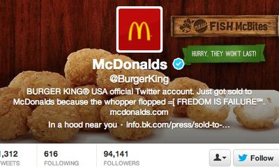 Burger King Twitter Feed Closed Over Hacking
