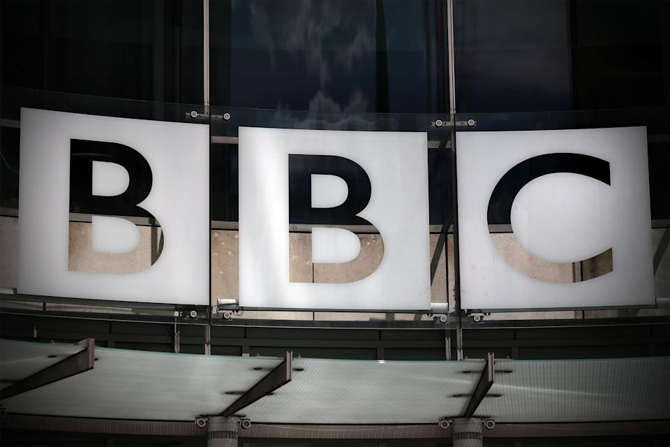 The logo for the BBC is displayed outside the broadcaster's headquarters on July 25, 2015 in London, England. The broadcaster's platforms have seen a drop in engagement among younger audiences. (Getty Images)