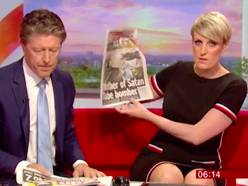 That feeling when you realise the whole country can see your underpants. Source: BBC Breakfast