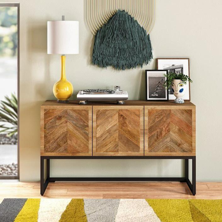 "<a href=""https://fave.co/2KF9VLm"" rel=""nofollow noopener"" target=""_blank"" data-ylk=""slk:Wayfair"" class=""link rapid-noclick-resp"">Wayfair</a> is known for its wide variety of affordable everyday furniture and decor. You&rsquo;ll find plenty of Southwestern and rustic-inspired bedroom, living room and dining room furniture, such as this <a href=""https://fave.co/33gaLET"" rel=""nofollow noopener"" target=""_blank"" data-ylk=""slk:woven accent chair"" class=""link rapid-noclick-resp"">woven accent chair</a> and this <a href=""https://fave.co/33elQq7"" rel=""nofollow noopener"" target=""_blank"" data-ylk=""slk:macrame wall hanging"" class=""link rapid-noclick-resp"">macrame wall hanging</a>. <a href=""https://fave.co/2KF9VLm"" rel=""nofollow noopener"" target=""_blank"" data-ylk=""slk:Browse more from Wayfair"" class=""link rapid-noclick-resp"">Browse more from Wayfair</a>."