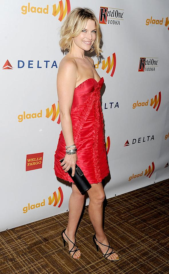 "<p class=""MsoNormal"">Former ""Heroes"" actress Ali Larter revved up her look with a strapless red dress. The 36-year-old, who's mom to 1-year-old Theodore, must have been excited to have a night out!</p>"