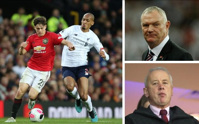 FA chairman Greg Clarke (above right) and EFL chairman Rick Parry (below right) have clashed over Premier League proposals
