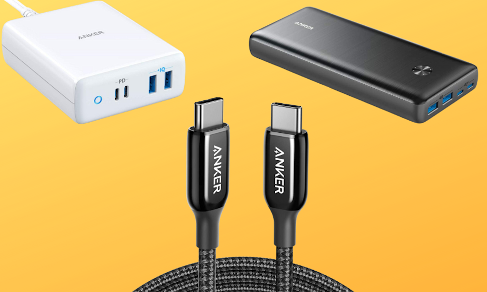 Save up to 46 percent on Anker smartphone and laptop accessories. (Photo: Amazon)
