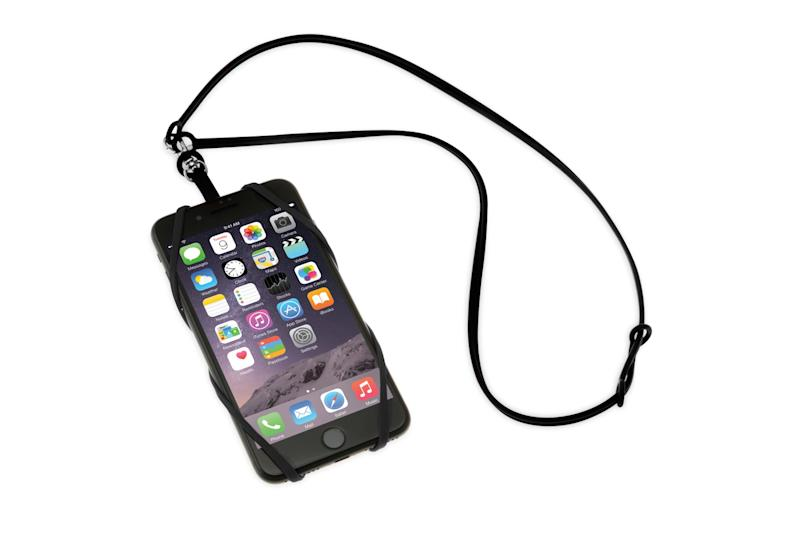 Smartphone lanyards cost S$20 or less and can easily secure your phone while still allowing you to use it conveniently