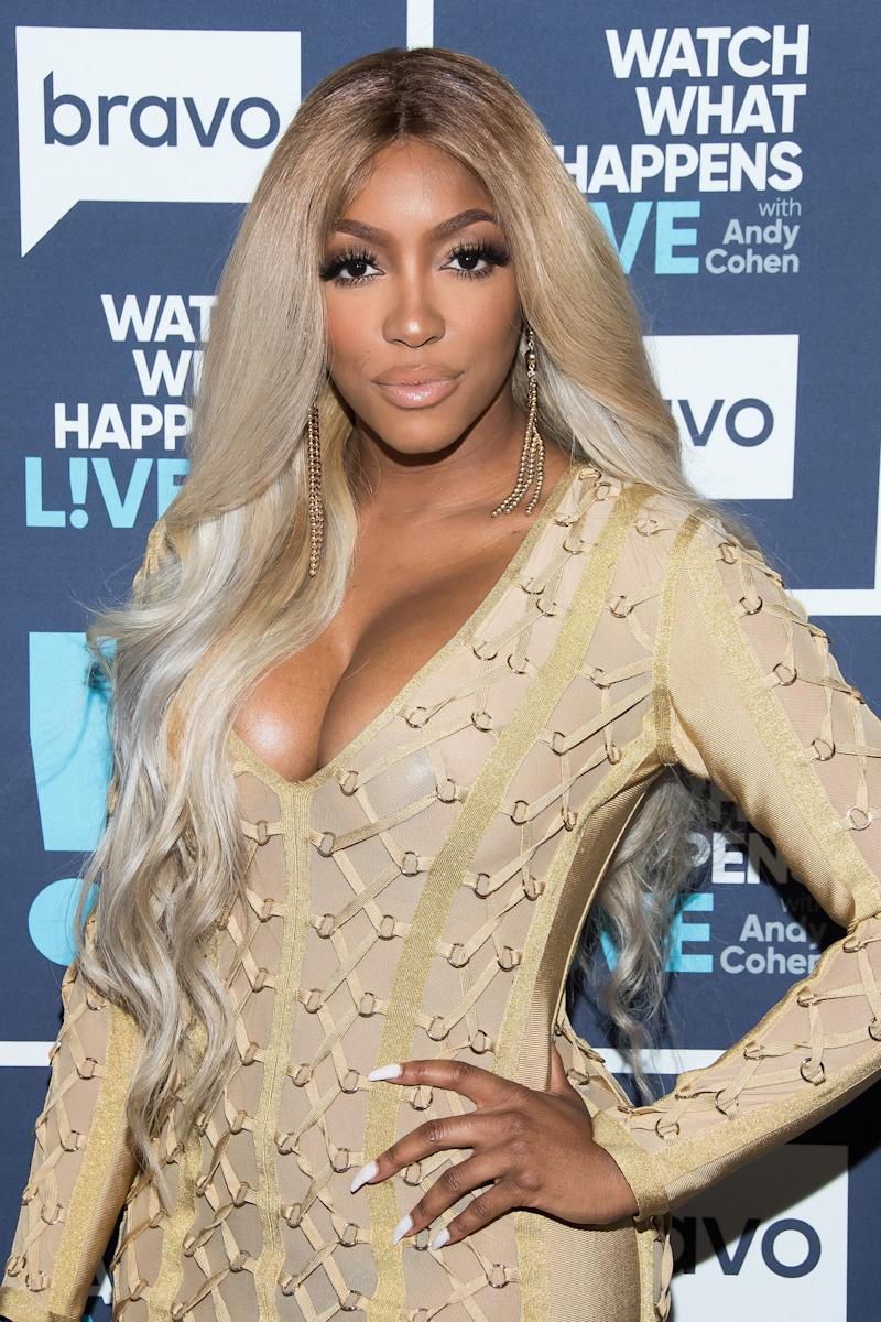 WATCH WHAT HAPPENS LIVE WITH ANDY COHEN -- Pictured: Porsha Williams -- (Photo by: Charles Sykes/Bravo/NBCU Photo Bank via Getty Images)