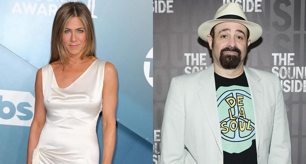 Jennifer Aniston, left and Adam Duritz dated briefly in the '90s. (Photos: Getty Images)