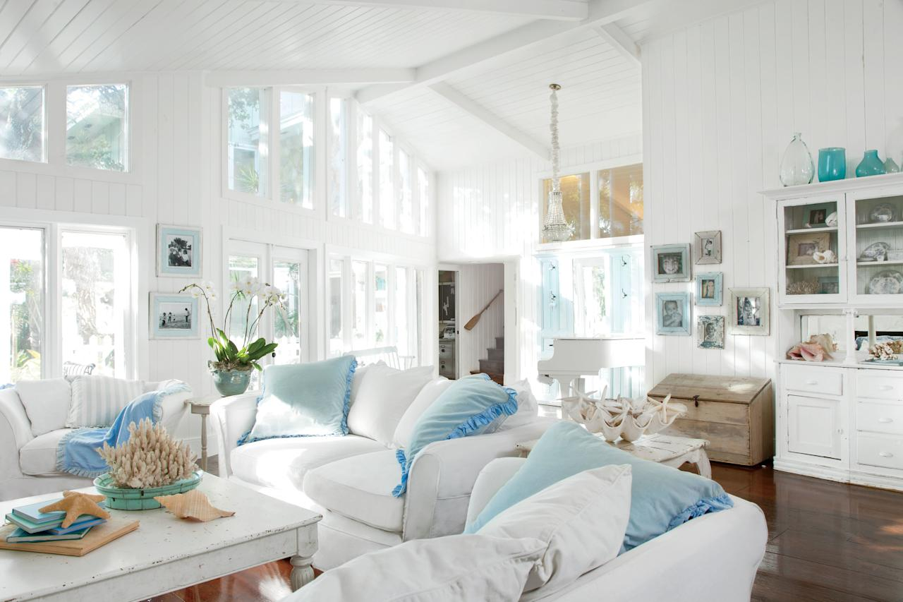 "<p>With four children and three dogs under one roof, Jeff and Nikki LaBelle's waterfront home on Casey Key, Florida, had to be one thing: easygoing. ""I wanted it to be the kind of place where people could put their feet up on the furniture,"" says Nikki. ""I didn't want to have to worry about everything always looking perfect."" So she purposely outfitted the house with vintage pieces that feature worn, chipped parts in order to ensure that nothing was too delicate for her active crew. She also extended her anything-goes mentality to the home's brand new floors, letting the kids loose on the wooden planks with their skateboards and tricycles to achieve an aged, well-worn aesthetic. ""They're low maintenance now and look great,"" says Nikki. ""I don't have to obsess when a little sand gets dragged in.""</p> <p>Here, how to forgo constant upkeep and score a house with laid-back charm.</p>"
