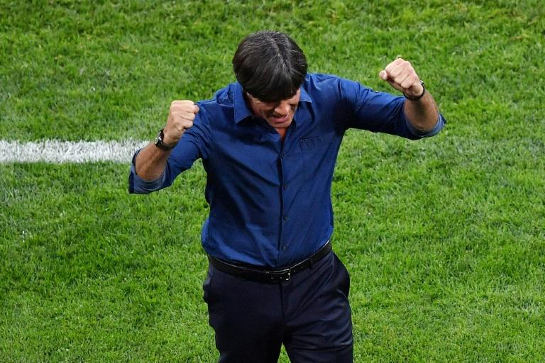 Germany's coach Joachim Loew reacts after his team beat Australia 3-2 on June 19, 2017