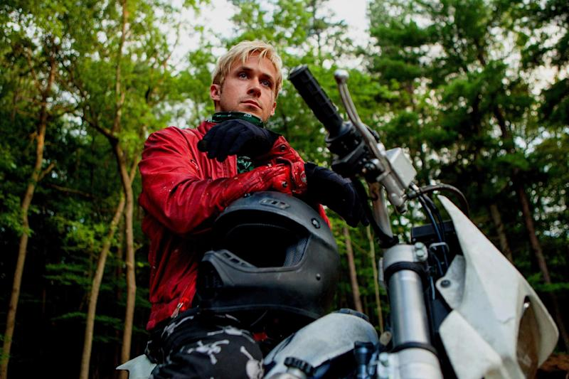 """This film image released by Focus Features shows Ryan Gosling in """"The Place Beyond the Pines."""" (AP Photo/Focus Features, Atsushi Nishijima)"""