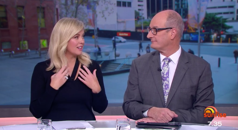 Sunrise hosts Samantha Armytage and David 'Kochie' Koch are at the centre of a feud with Married At First Sight reality star Martha over 2019 Logies red carpet elbowing incident