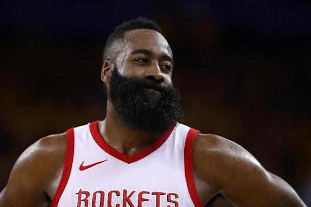 James Harden, this season's NBA scoring champion with an average 30.4 points a game, joins LeBron James on the 12th All-NBA First Team as a unanimous selection (AFP Photo/EZRA SHAW)