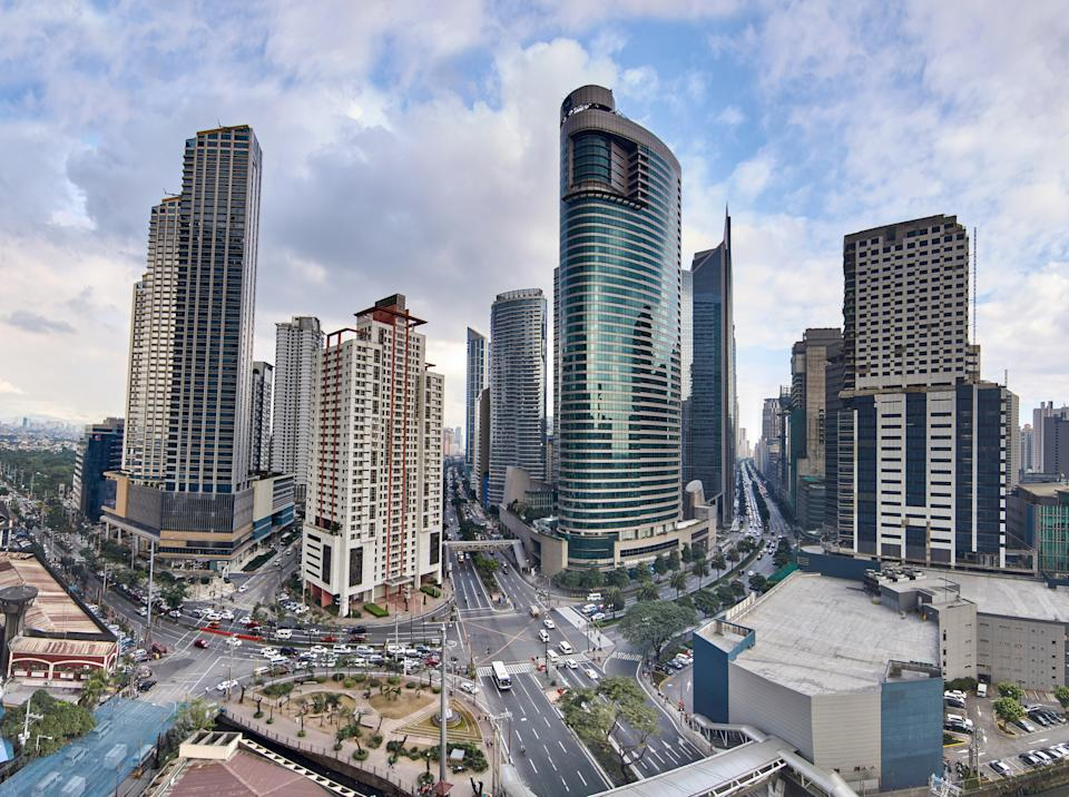 Aerial view of a Makati City, the Philippines. (Photo: Getty Images)