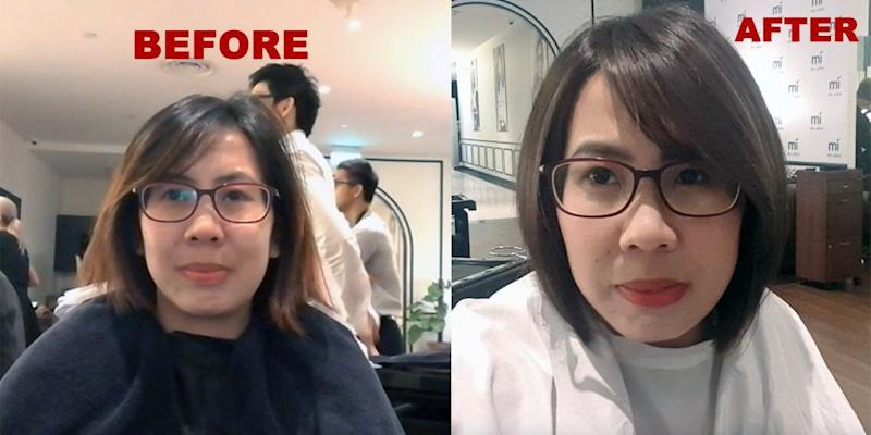 See the writer's before and after look.