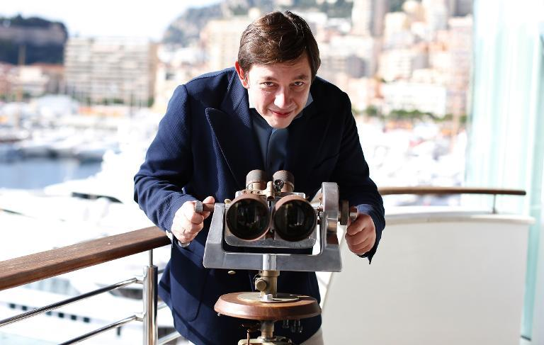Russian millionaire Vasily Klyukin poses for a photo at his home in Monaco, on October 25, 2013
