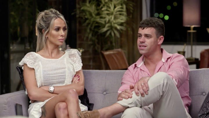 MAFS' Stacey defended Michael following the cheating scandal between him and Hayley. Photo: Channel 9