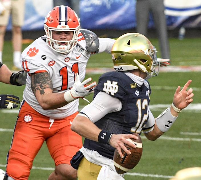 Clemson defensive lineman Bryan Bresee (11) was named ACC Defensive Rookie of the Year and was an All-America last season.