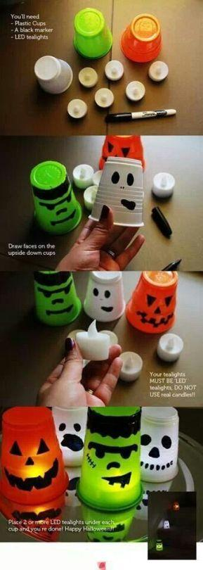 """<p>Yes, kids, I <i>did</i> plan this, and it <i>was</i> complicated. <i>(Photo: <a href=""""http://thriftymommaramblings.com/2013/09/spooky-halloween-candle-light-cups/"""">Thrifty Momma Ramblings</a>)</i></p>"""