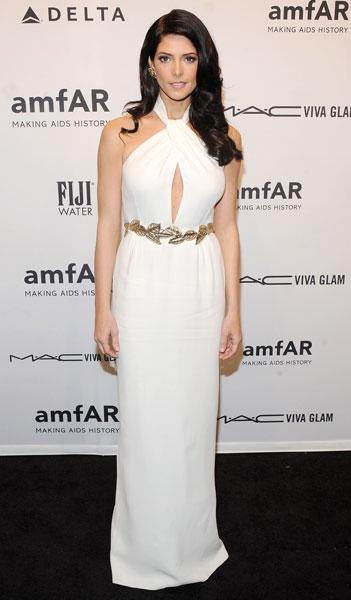 "<b>Ashley Greene </b><br><br>The Twilight actress worked the Grecian trend in a white halterneck Giambattista Valli gown and gold leaf belt at the <a target=""_blank"" href=""http://uk.lifestyle.yahoo.com/photos/lindsay-lohan-heidi-klum-attend-amfar-gala-2013-kicking-off-new-york-fashion-week-slideshow/"">amfAR Benefit Gala</a> in New York.<br><br>Image © Rex"