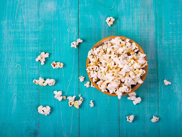 <p>Packed with inflammation-fighting antioxidants, popcorn is the only 100 percent unprocessed whole grain, meaning its one of the best snacks to help you meet your daily whole grain goals. The only caveat: The pre-bagged, microwaveable varieties are loaded with calories and chemicals. Buy unvarnished kernels and pop them yourself in a stove top popper. Olive or truffle oils are delicious, healthy substitutions for butter.</p>