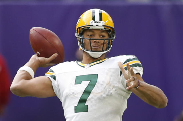 Green Bay Packers quarterback Brett Hundley will replace Aaron Rodgers. (AP)