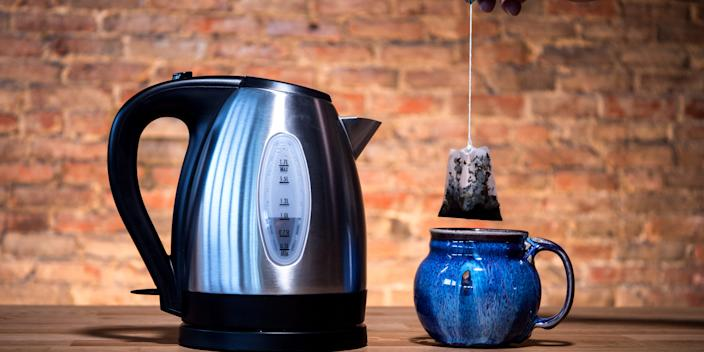 The Hamilton Beach electric kettle is one of our top picks.