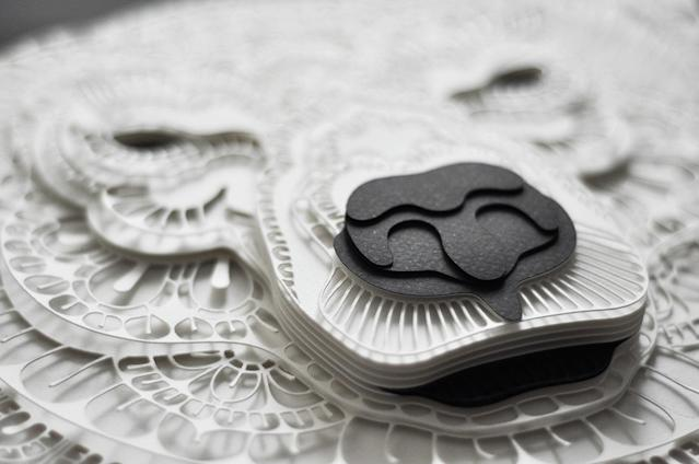 <p>Intricate paper cut outs in close up. (Photo: Patrick Cabral/Caters News </p>