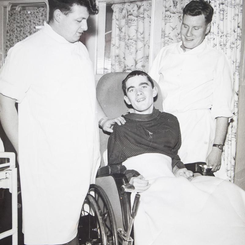 James Morris when first admitted into hospital in the UK 1962  - Credit: Mark F Gibson/Caters