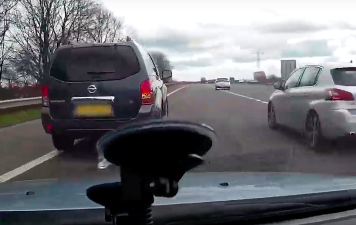 The incident was captured on dashcam (Picture: City of London Police)