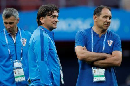 Soccer Football - World Cup - Semi Final - Croatia v England - Luzhniki Stadium, Moscow, Russia - July 11, 2018 Croatia coach Zlatko Dalic on the pitch before the match REUTERS/Maxim Shemetov